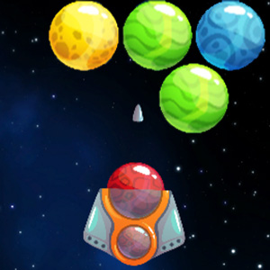 Bubble Shooter Planet Game